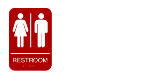 Bathroom/restroom signs logo by Image 212°