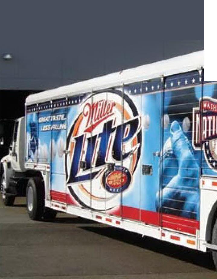 Commercial fleet wraps for advertising purpose