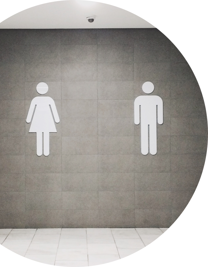 All gender restroom signs image