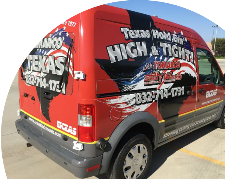 Creative vehicle wraps advertisement in Dallas, TX
