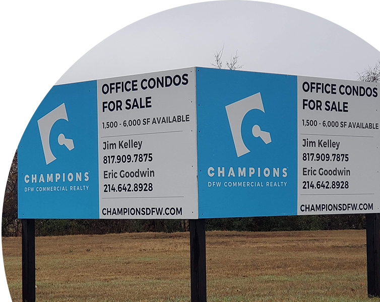 Best real estate signage ideas for business in Dallas, TX