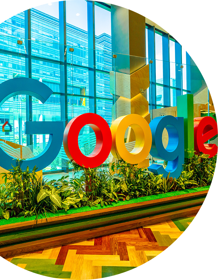 Google's lobby signage