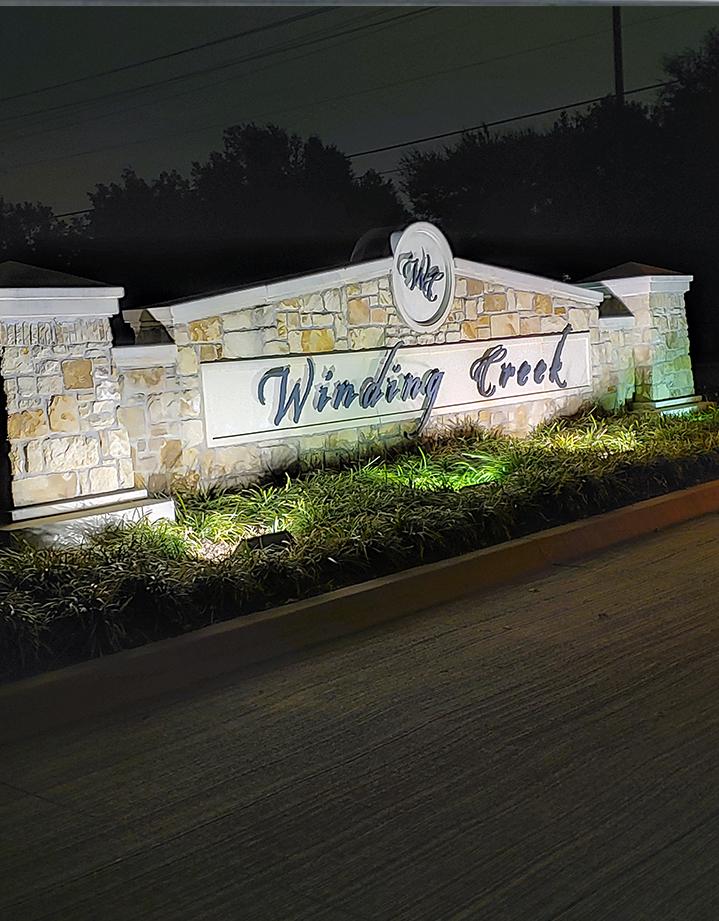 Branding monument sings in Dallas, TX