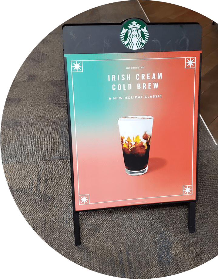 Starbucks A-frame signs ideas