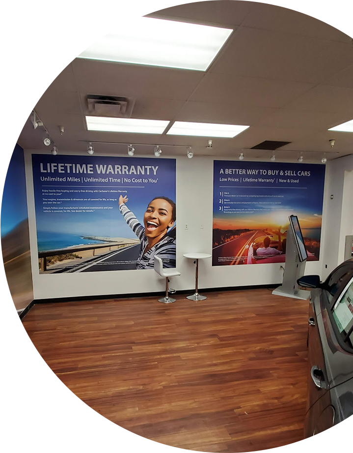 Advertising wall murals for office