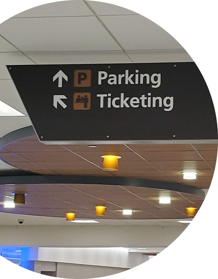 Personalized wayfinding/directional signs design